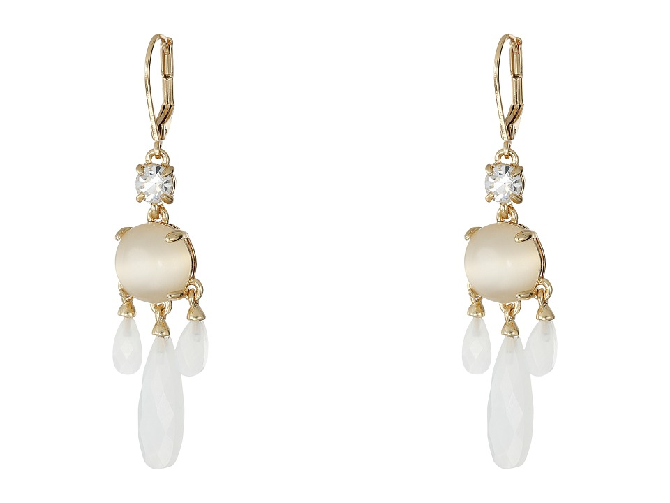 Kate Spade New York - Semi Precious Chandelier Earrings (White) Earring