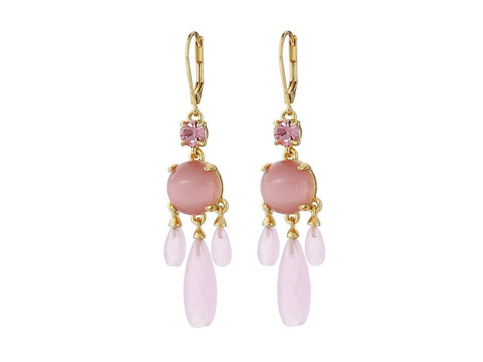 Kate Spade New York - Semi Precious Chandelier Earrings (Pink) Earring
