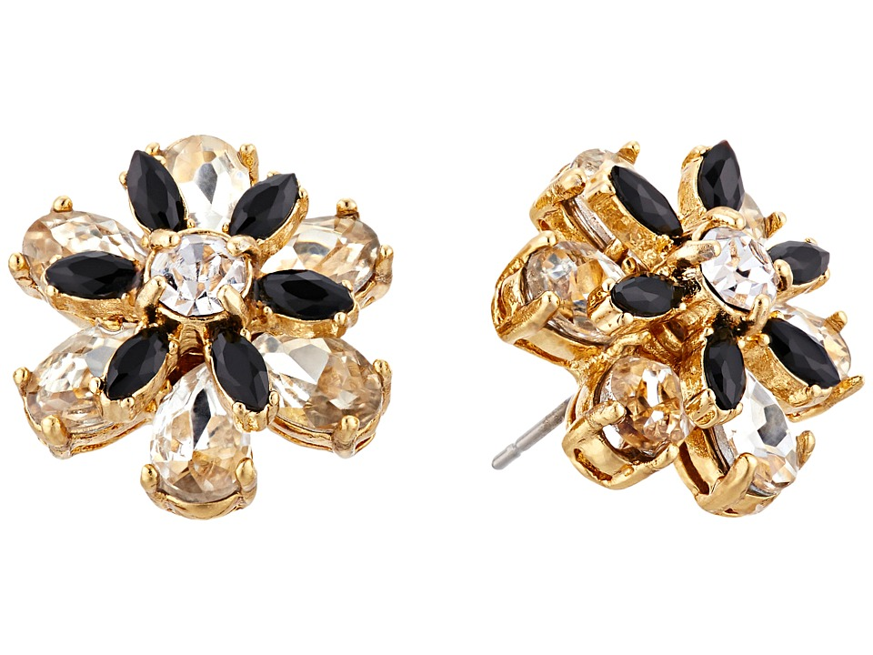 Kate Spade New York - Shadow Blossoms Studs Earrings (Neutral/Multi) Earring