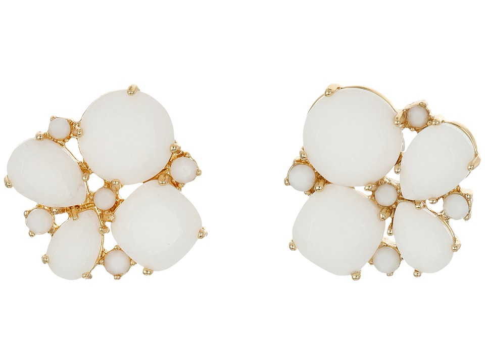 Kate Spade New York - Seastone Sparkle Cluster Stud Earrings (White/Multi) Earring