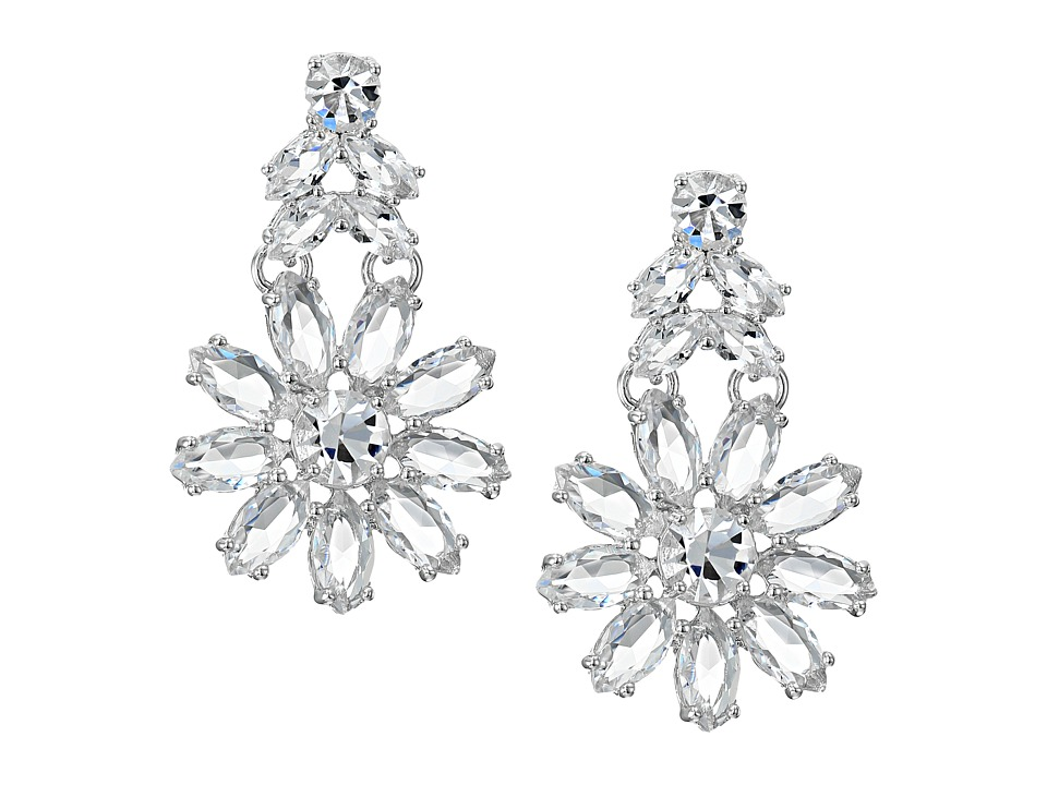 Kate Spade New York - Crystal Bouquet Drop Earrings (Clear) Earring