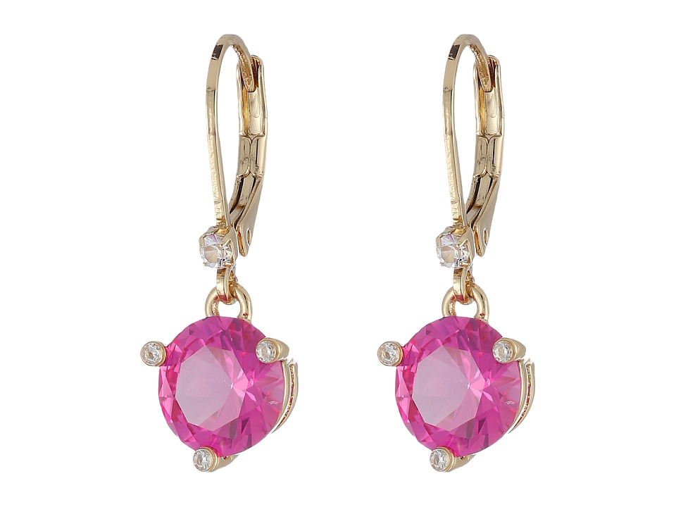 Kate Spade New York - Rise and Shine Leverbacks Earrings (Fuchsia) Earring