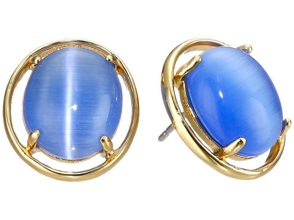 Kate Spade New York - Open Rim Studs Earrings (Blue) Earring