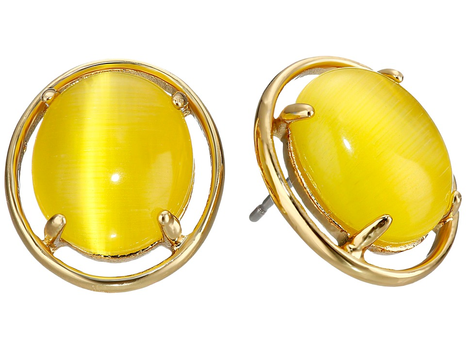 Kate Spade New York - Open Rim Studs Earrings (Yellow) Earring