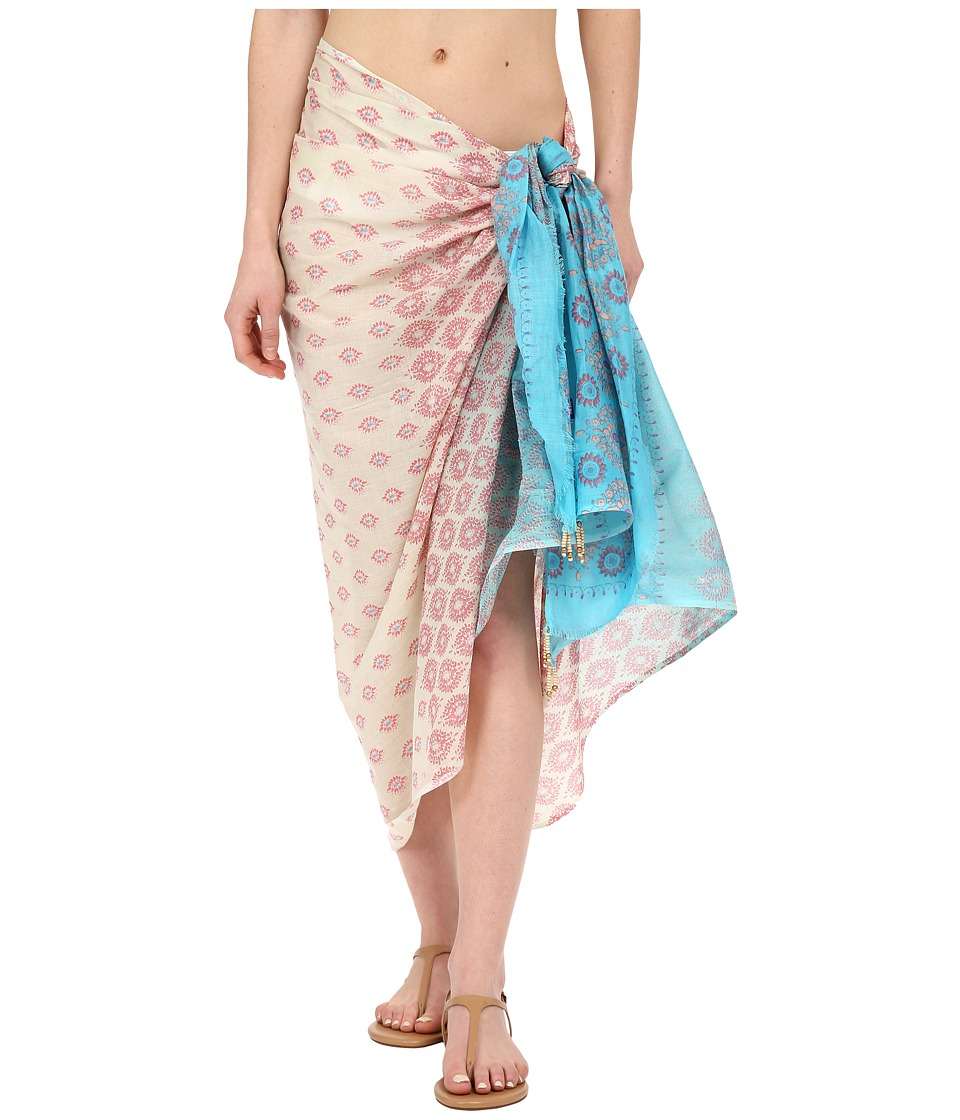 Hat Attack - Sarong (Turquoise Diamonds) Women's Swimwear