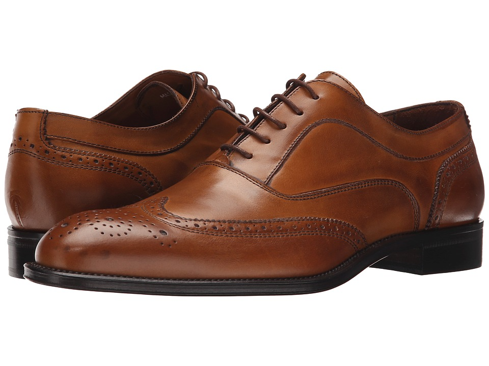 Massimo Matteo - 5-Eye Bal Wing Tip (New Tan) Men's Lace Up Wing Tip Shoes