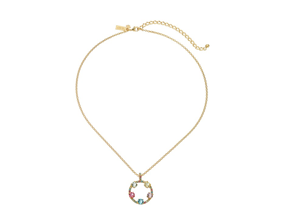 Kate Spade New York - Carnival Crystal Mini Pendant Necklace (Multi) Necklace
