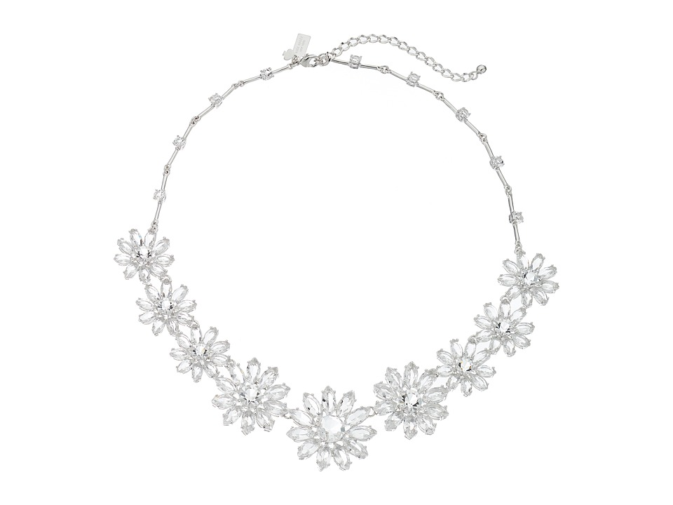 Kate Spade New York - Crystal Bouquet Necklace (Clear) Necklace