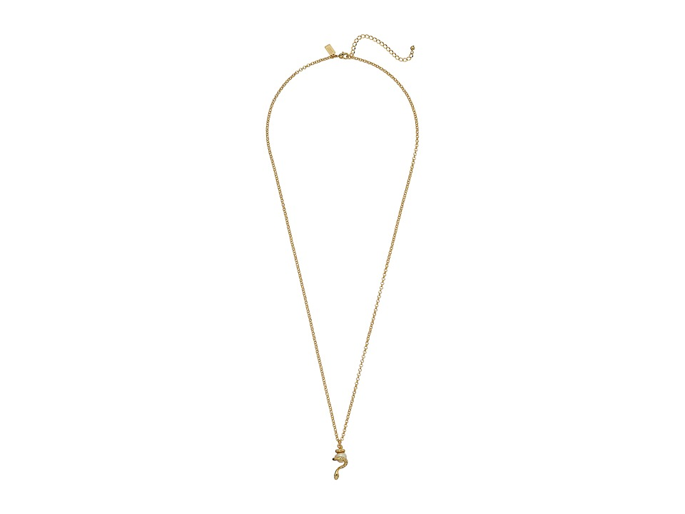Kate Spade New York - Spirit Animals Snake Pendant Necklace (Cream/Multi) Necklace