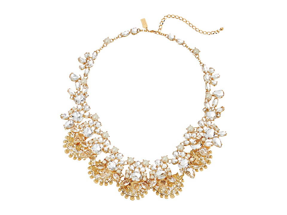 Kate Spade New York - Chantilly Gems Statement Necklace (Cream/Multi) Necklace
