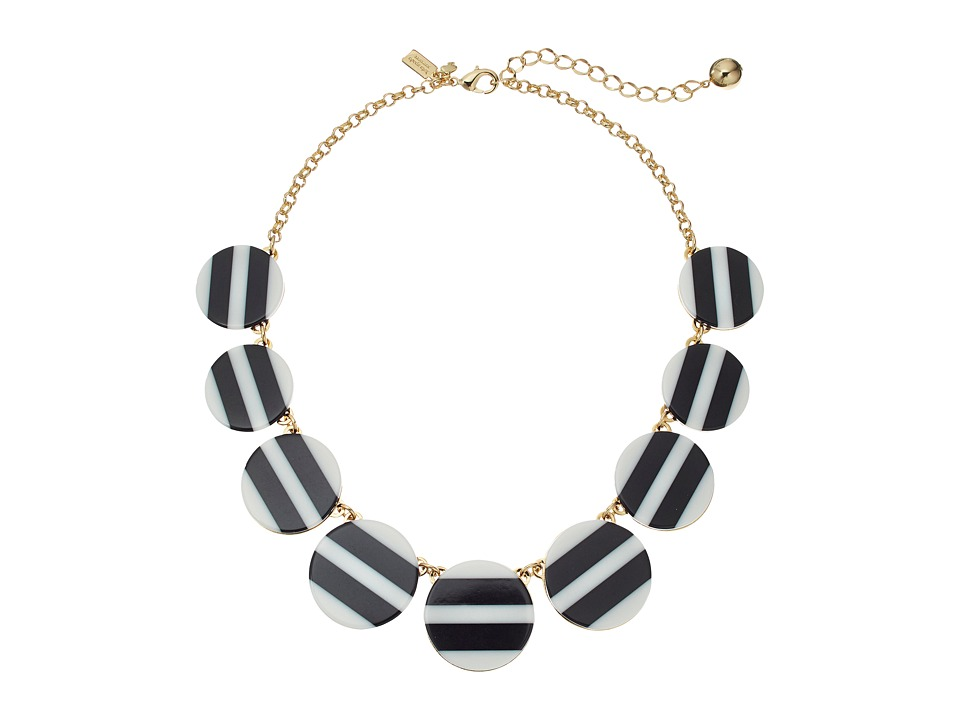 Kate Spade New York - Dot Dot Dot Striped Necklace (Black/Multi) Necklace