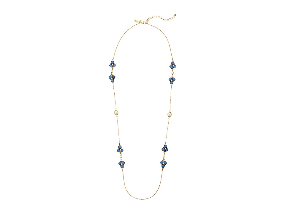 Kate Spade New York - Crystal Cluster Scatter Necklace (Blue) Necklace
