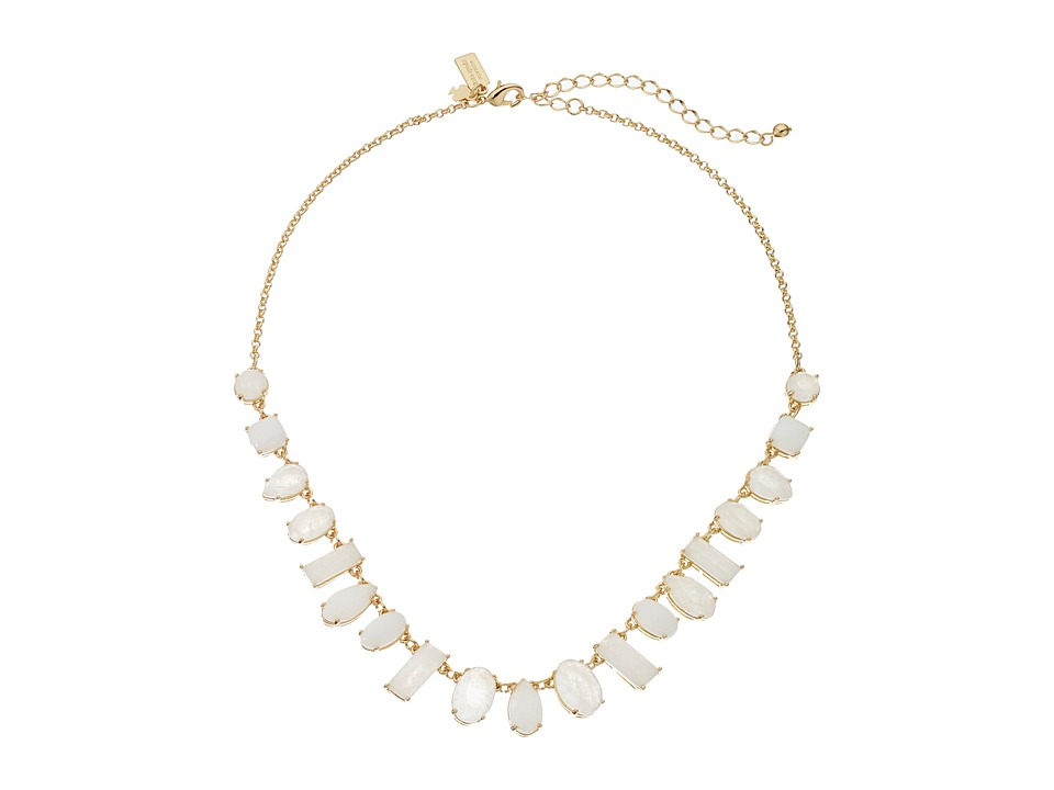Kate Spade New York - Seastone Sparkle Graduated Necklace (White/Multi) Necklace