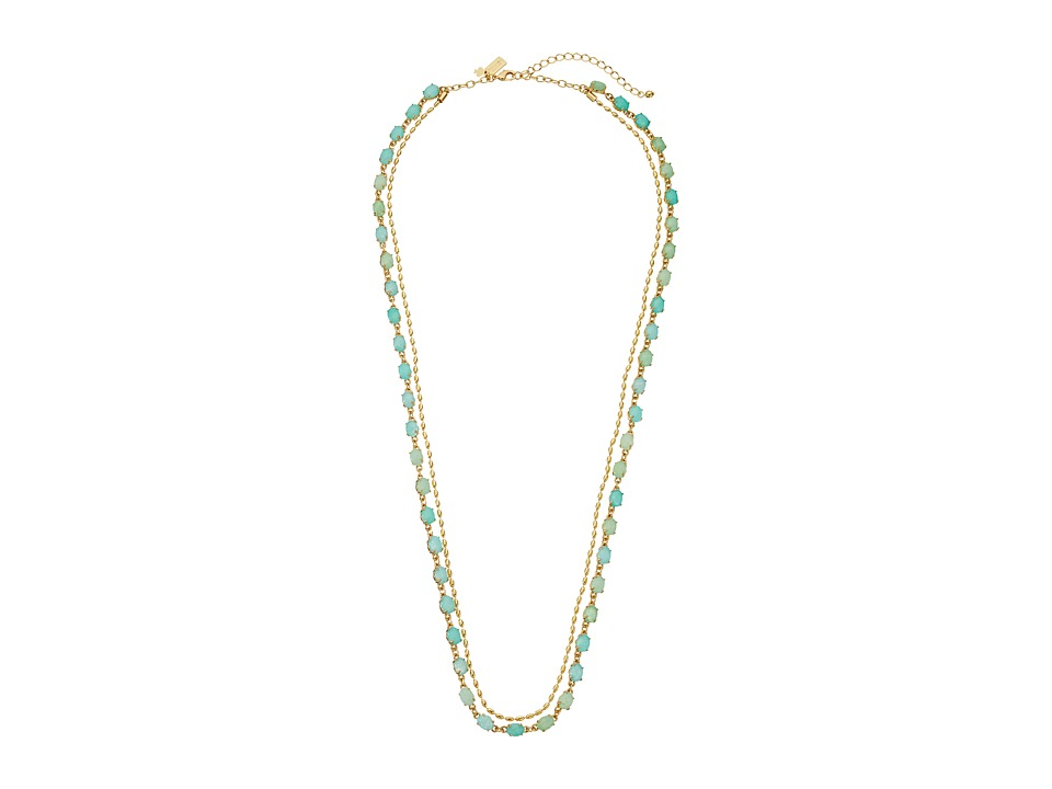 Kate Spade New York - Seastone Sparkle Long Necklace (Mint/Multi) Necklace