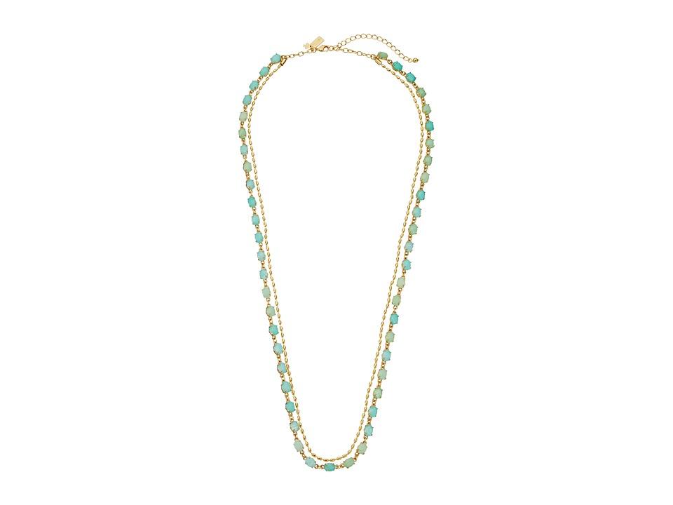 Kate Spade New York - Seastone Sparkle Long Necklace (Mint/Multi) Necklace