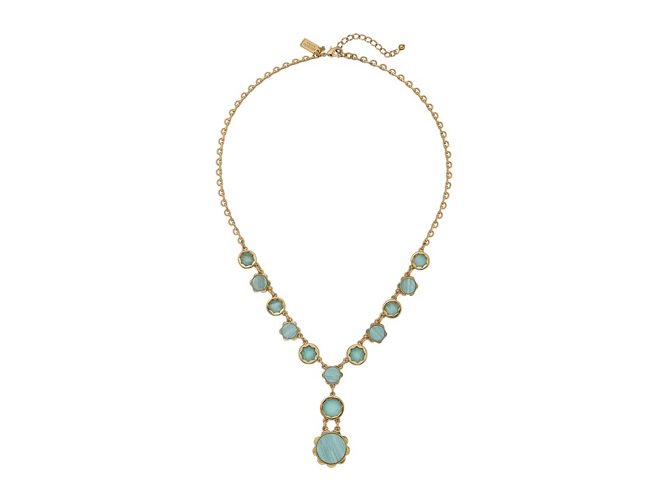 Kate Spade New York - Punchy Petals Y Necklace (Mint) Necklace