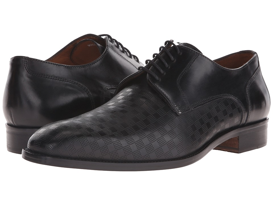 Massimo Matteo - PT Lace with Mixed Material (Black) Men's Shoes