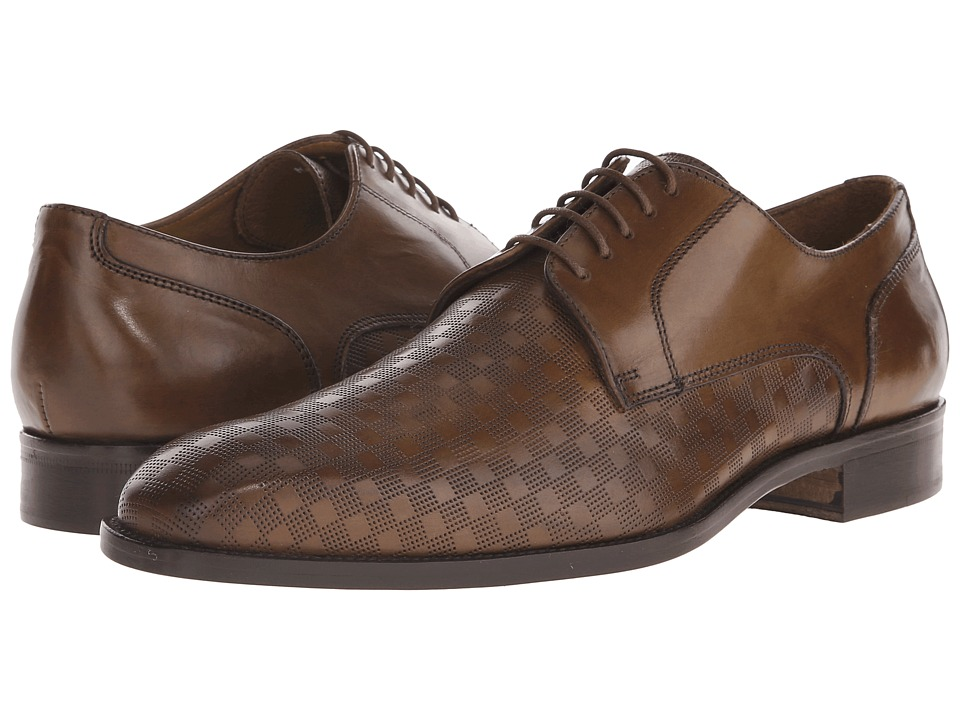 Massimo Matteo - PT Lace with Mixed Material (Brandy) Men's Shoes