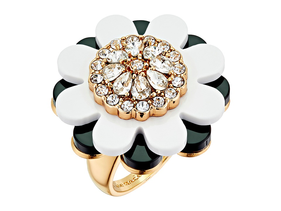 Kate Spade New York - Shadow Blossoms Ring (Neutral/Multi) Ring