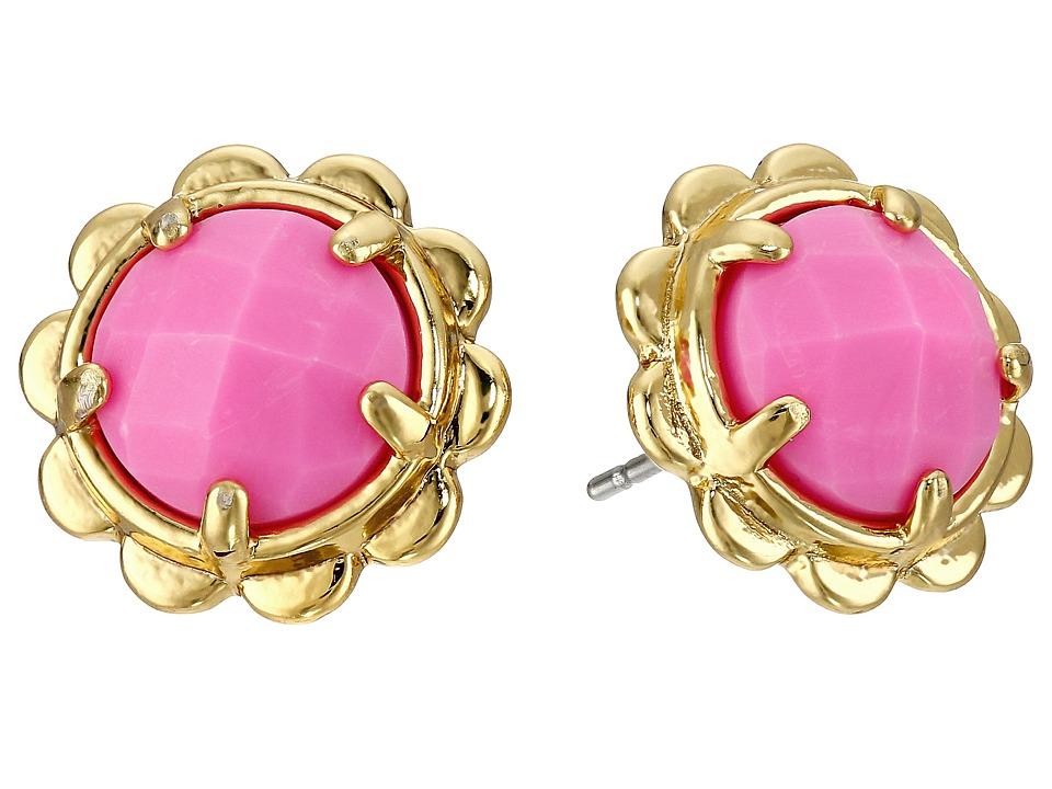 Kate Spade New York - Scalloped Edge Studs Earrings (Carnival Pink) Earring