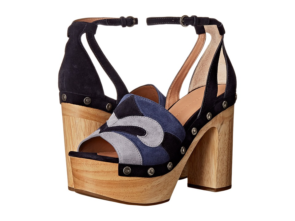 Sigerson Morrison - Quentin (Blue Multi Suede) Women's Shoes
