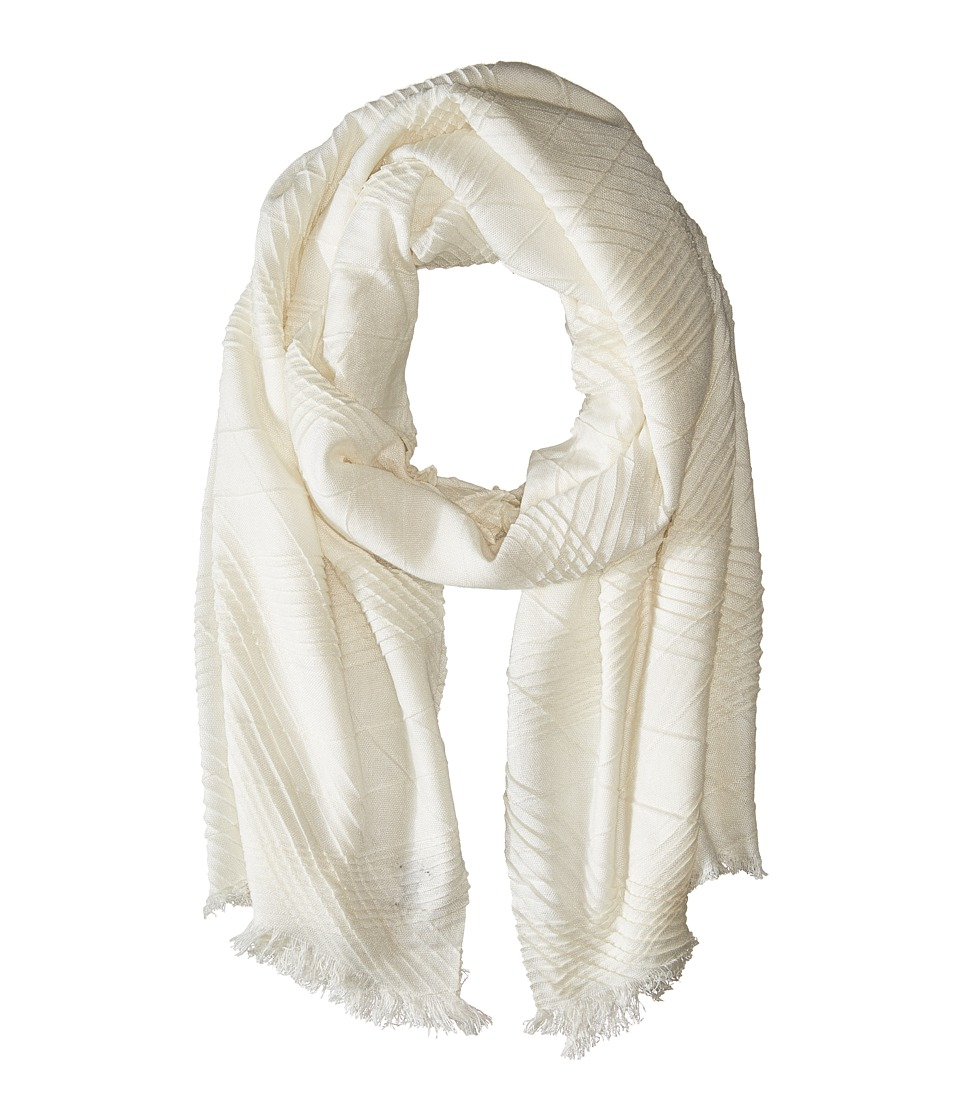 Echo Design - Pleated Milk Made Blanket Wrap (Snow White) Scarves