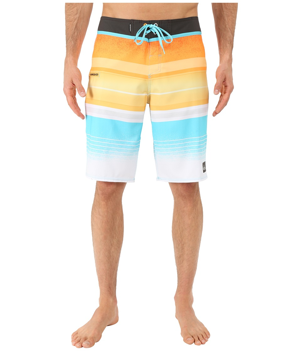 Quiksilver - Everyday Stripe 21 Boardshorts (Stripe Orange Pop) Men's Swimwear