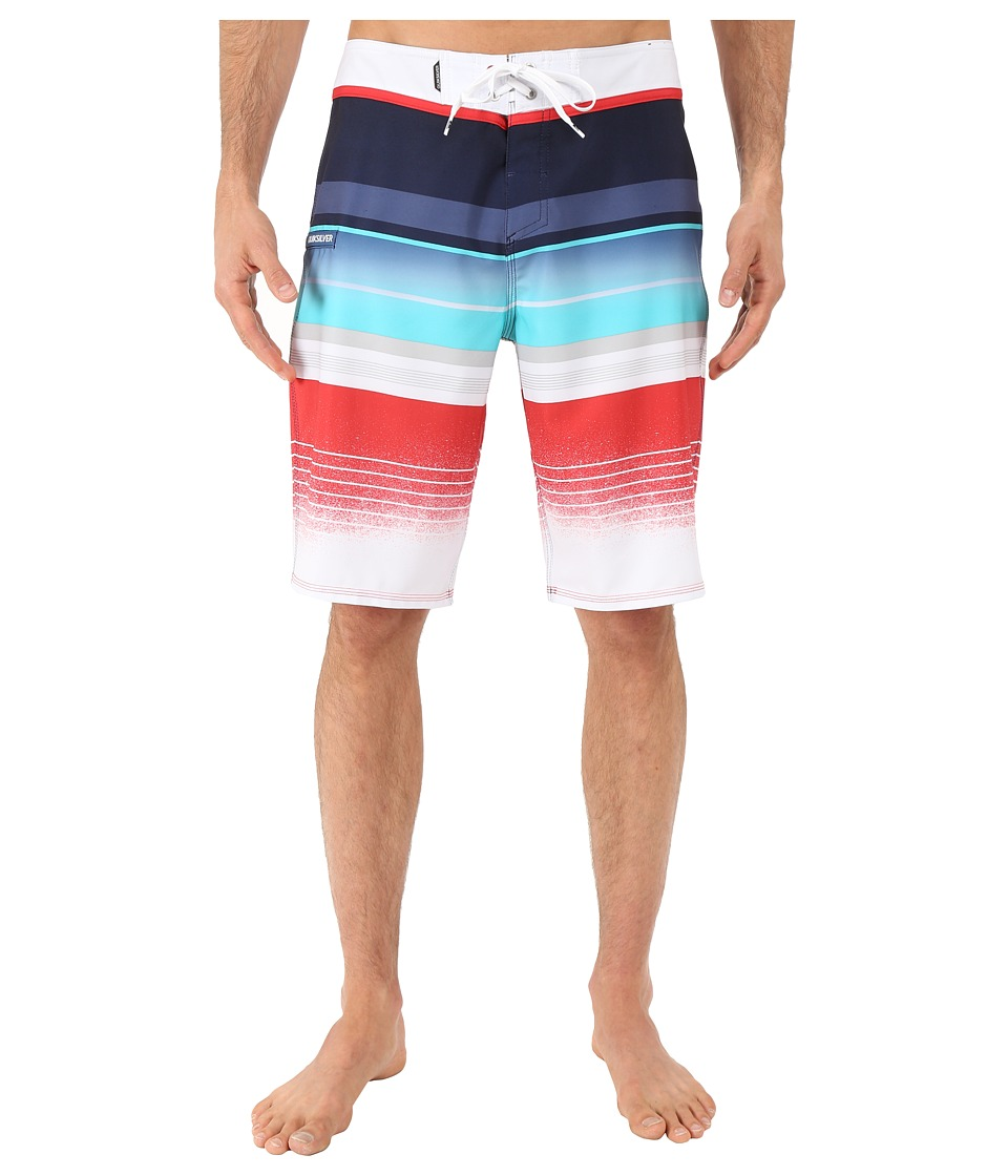 Quiksilver - Everyday Stripe 21 Boardshorts (Navy Blazer) Men's Swimwear