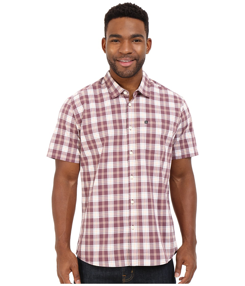 Quiksilver - Everyday Check Short Sleeve Woven (Plum) Men's Clothing