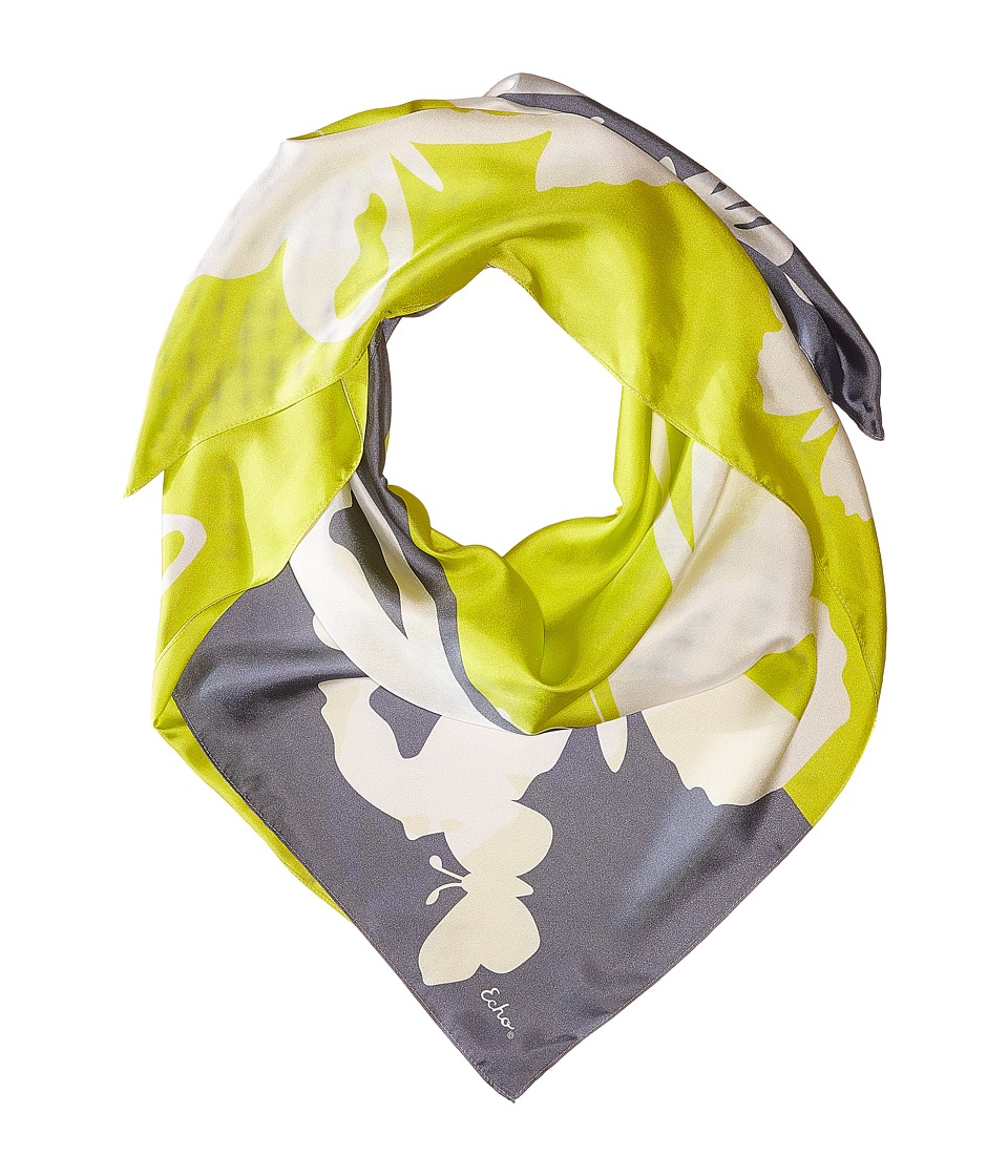 Echo Design - Color Block Butterfly Square (Citron) Scarves
