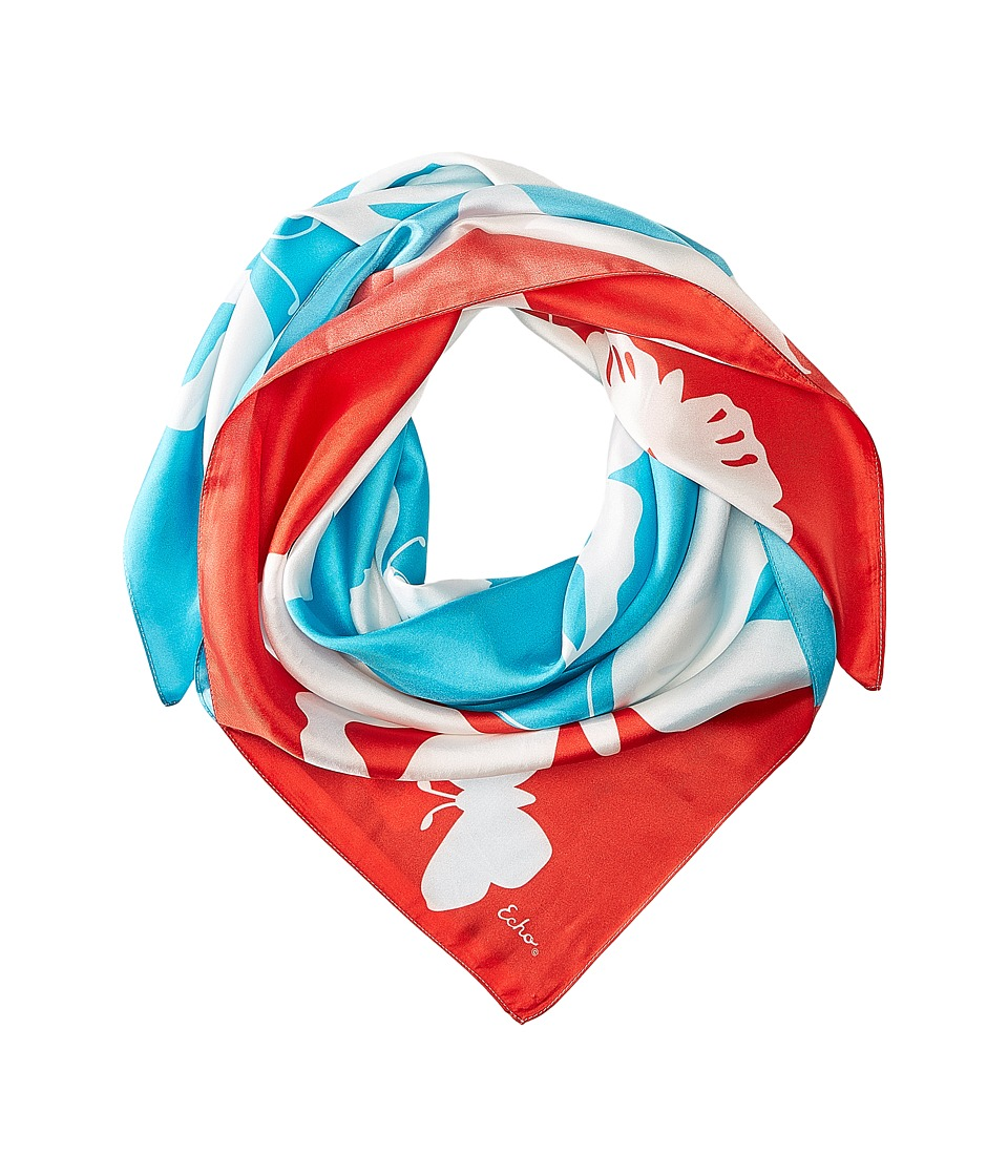 Echo Design - Color Block Butterfly Square (Pacific Teal) Scarves