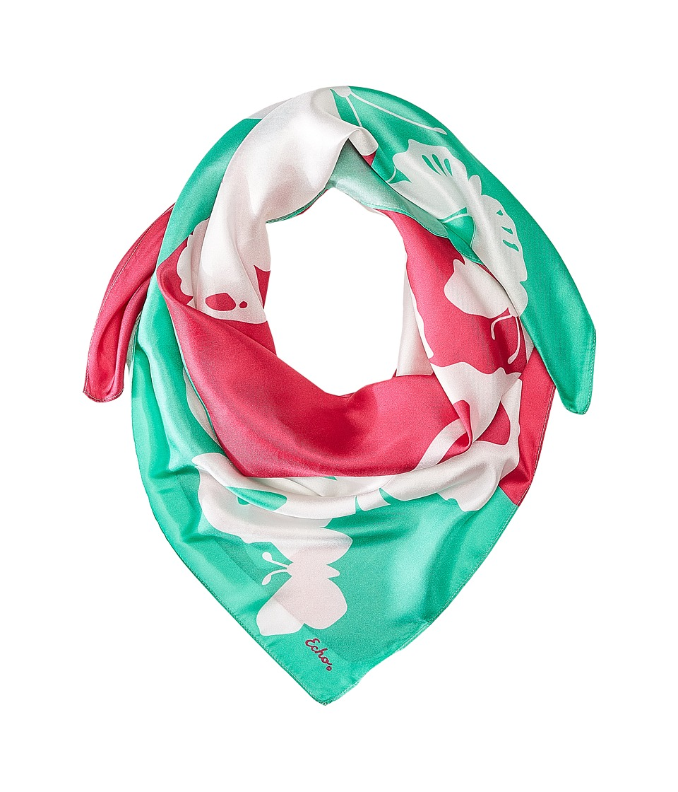 Echo Design - Color Block Butterfly Square (Fuchsia Flower) Scarves