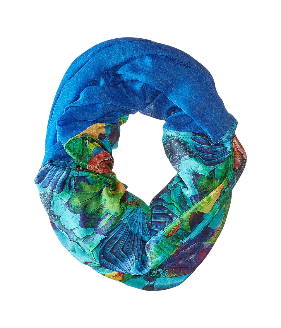 Echo Design - Parrot Feathers Tubular Wrap (Amazon Blue) Scarves