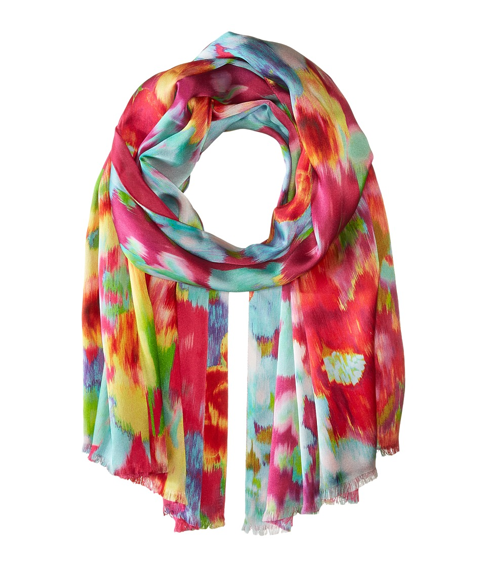 Echo Design - Flowers in the Wind (Fuchsia Flower) Scarves