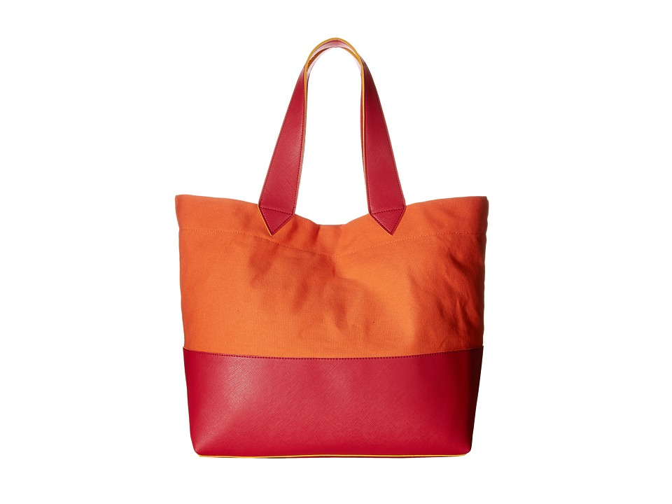 Echo Design - Color Block Sydney Tote (Ripe Mango) Tote Handbags
