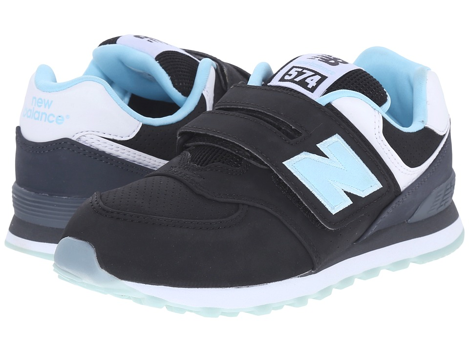 New Balance Kids - State Fair 574 H L (Little Kid/Big Kid) (Black/Blue) Kids Shoes