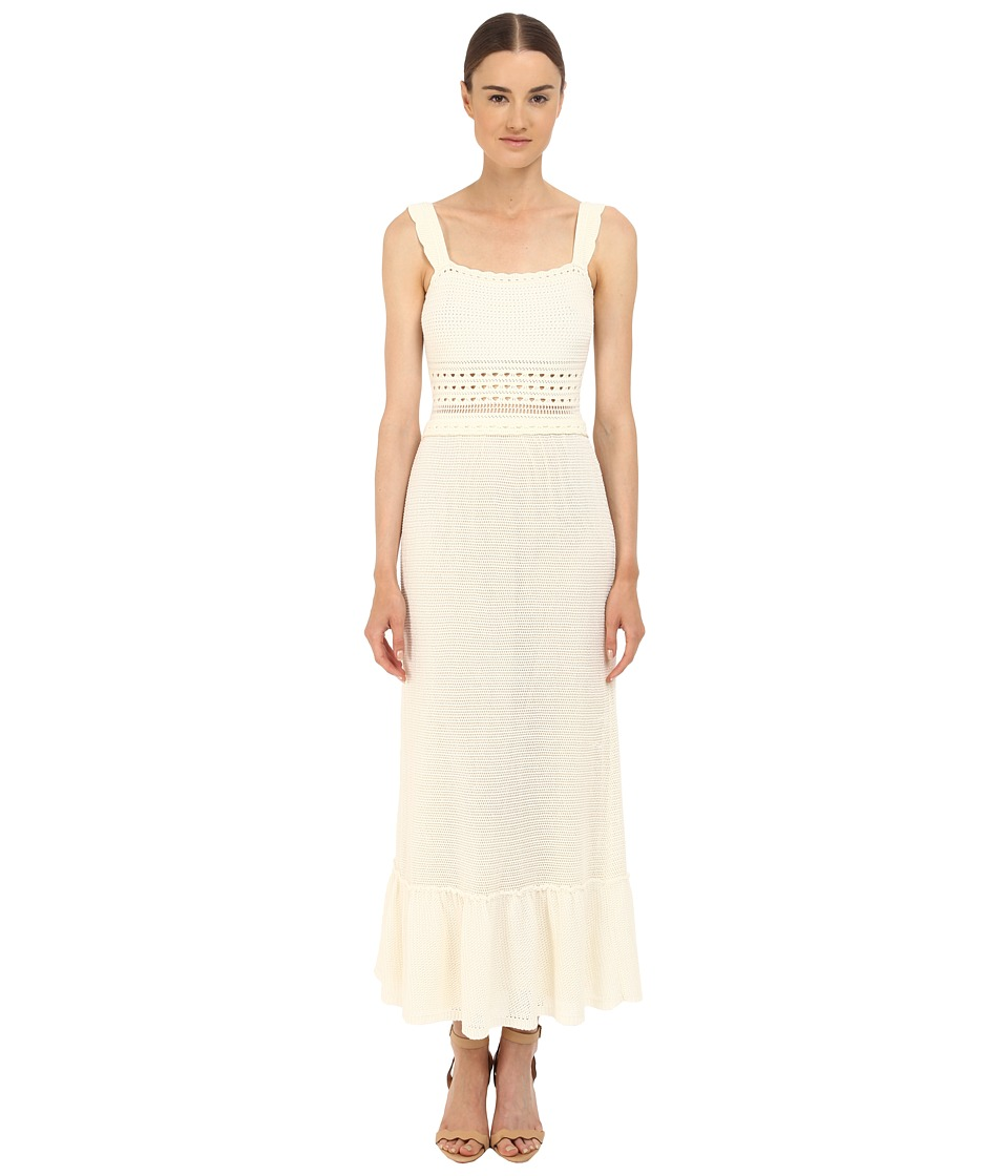RED VALENTINO - Crochet Maxi Dress (White) Women's Dress