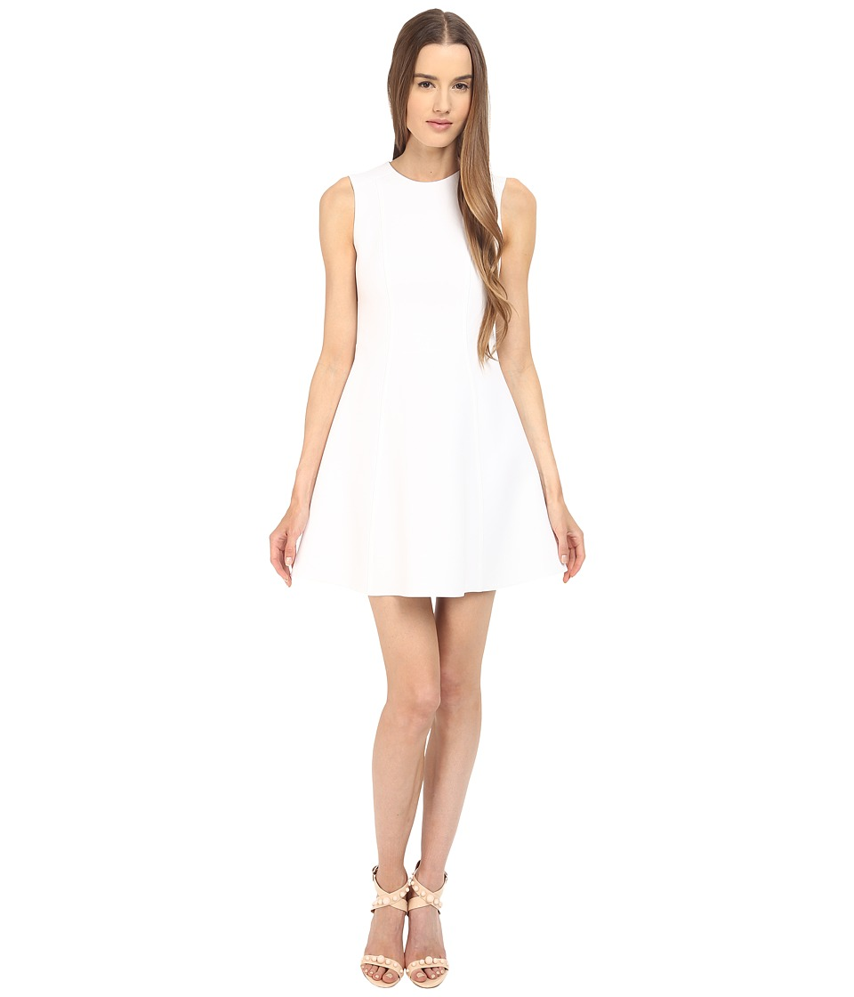 RED VALENTINO Clean Cut Fit and Flare Dress (White) Women