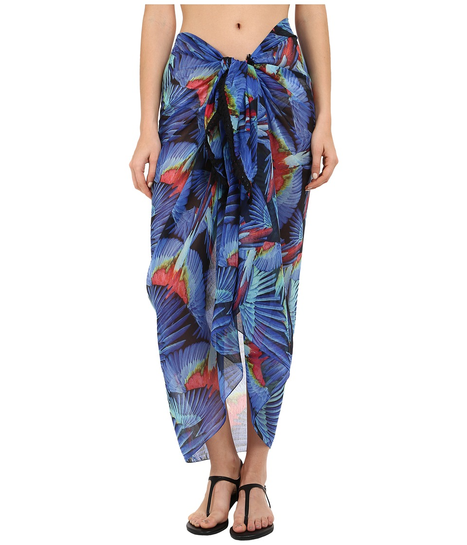 Echo Design - Birds of Paradise Pareo Cover-Up (Dazzling Blue) Scarves