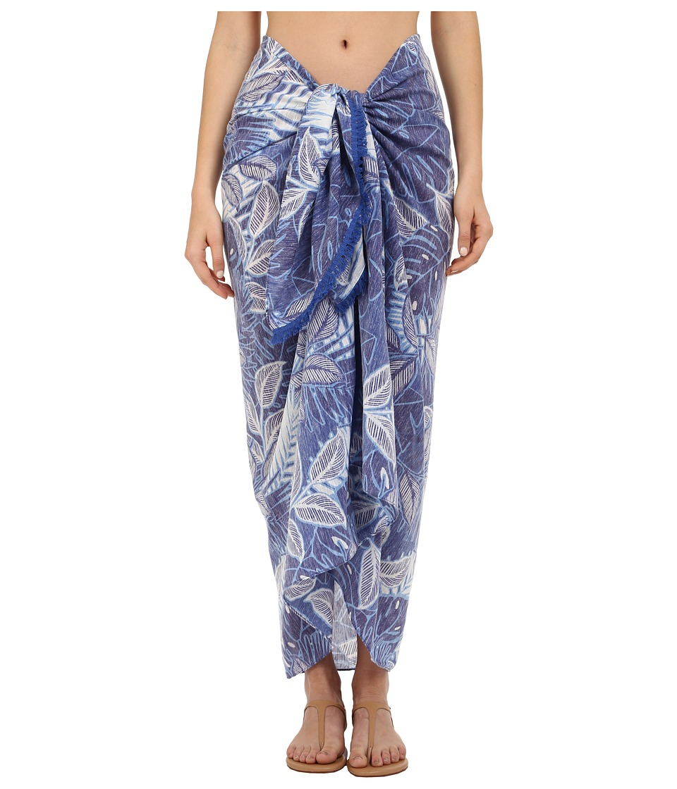 Echo Design - Tahitian Palm Pareo Cover-Up (Dazzling Blue) Scarves