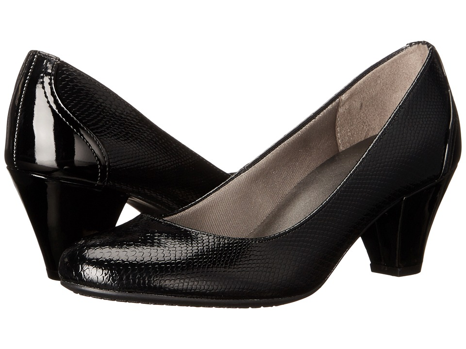 LifeStride Garcia (Black Snake) High Heels