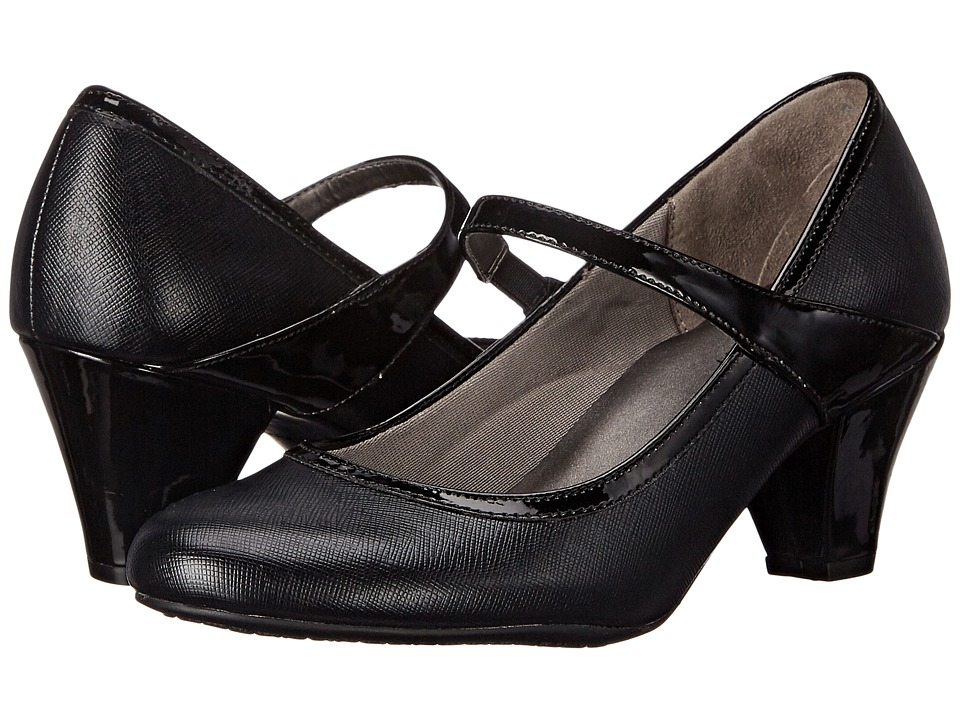 LifeStride Gigi (Black Smooth/Patent) Women