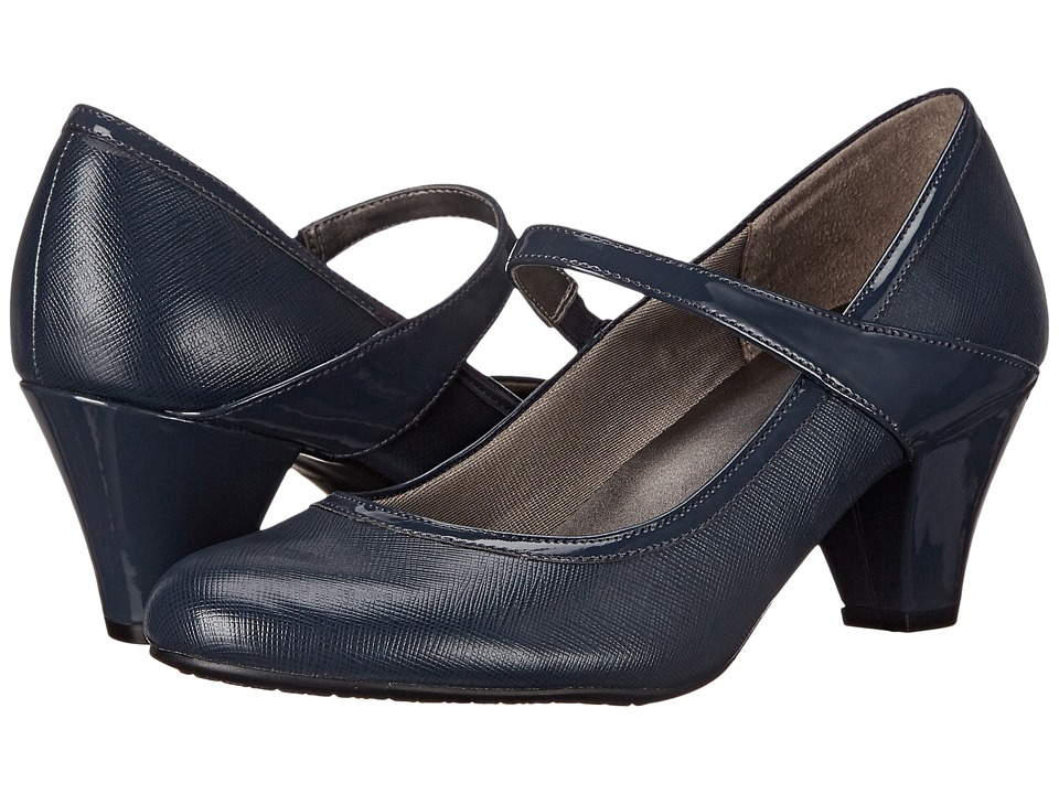 LifeStride Gigi (Navy Smooth/Patent) Women