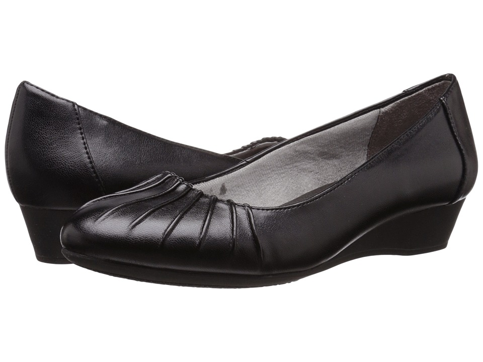 LifeStride - Capstone (Black Smooth) Women's Shoes
