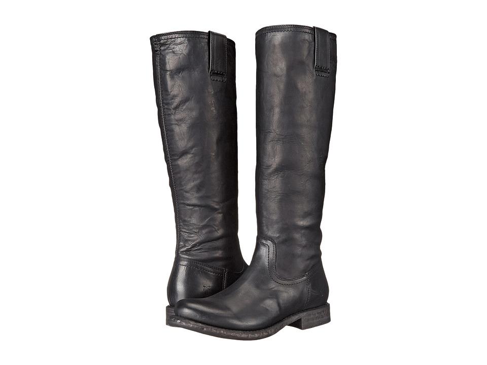 Frye - Jenna Inside Zip (Black Full Grain Leather) Women's Boots