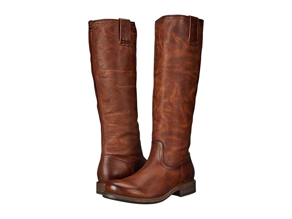 Frye - Jenna Inside Zip (Cognac Full Grain Leather) Women's Boots