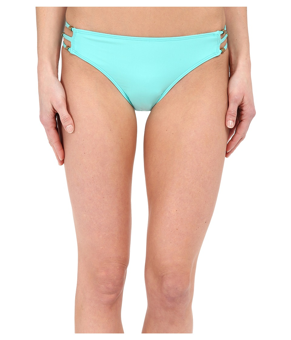 Ella Moss - Stella Side Strap Bikini Bottom (Aqua) Women's Swimwear