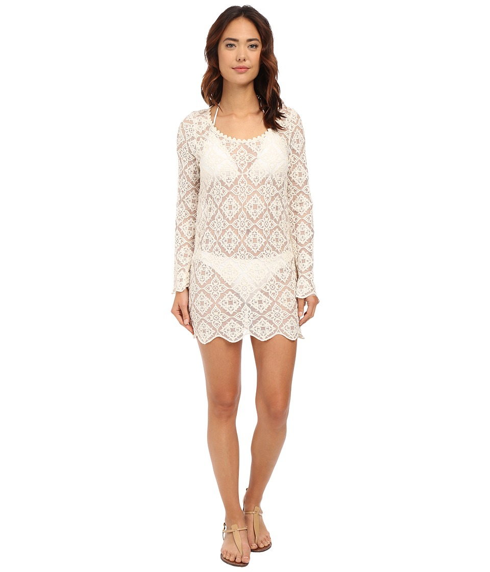 Ella Moss Stella Lace Tunic Cover-Up (Cream) Women