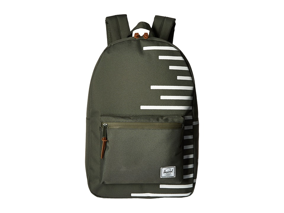 Herschel Supply Co. - Settlement (Deep Lichen Green/Blanc de Blanc Stripes) Backpack Bags