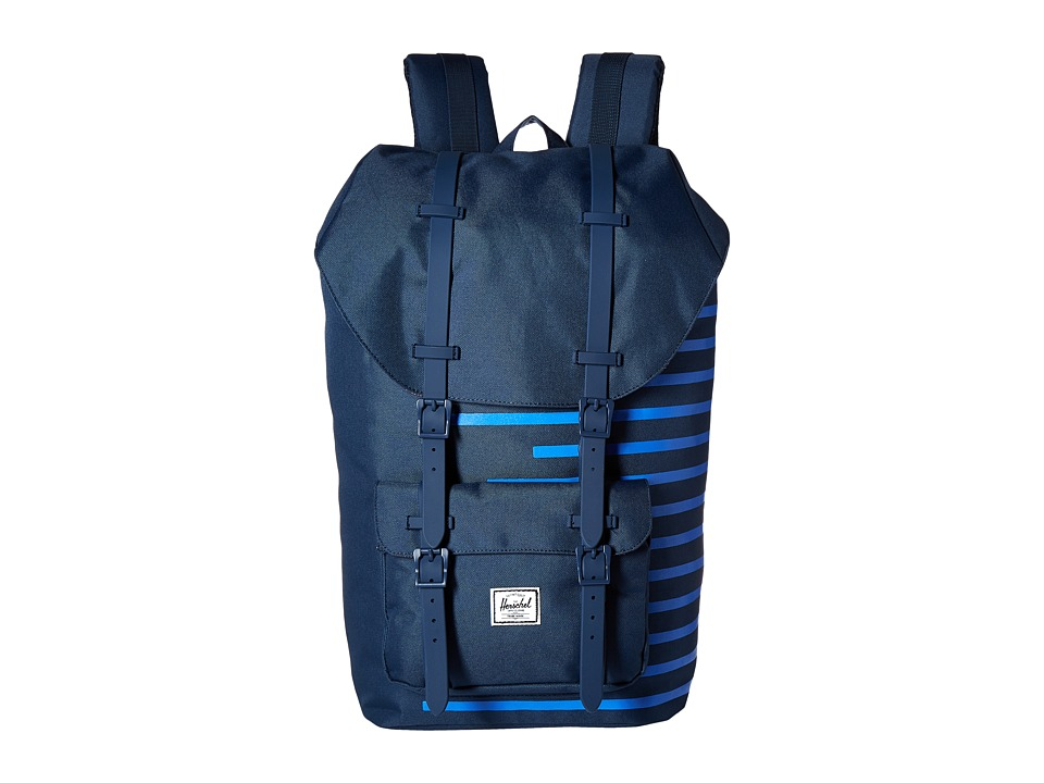 Herschel Supply Co. - Little America (Navy/Cobalt Stripes) Backpack Bags